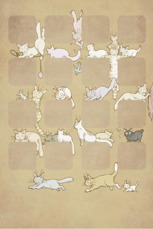 Iphone4用猫壁紙